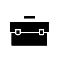 case simple icon black sign vector image