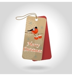 Cute merry christmas gift tags with vector