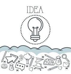 Doodle icon design idea icon draw concept vector image