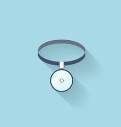 Flat web internet icon medical head mirror vector