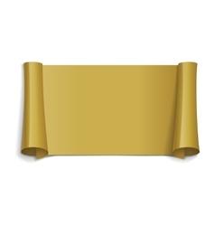 Gold glossy ribbon vector