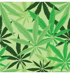 Green hemp floral seamless background vector image