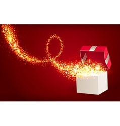 Open Gift Box vector image vector image