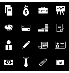 white business icon set vector image vector image