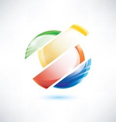 abstract glossy circle segments vector image