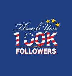 100k followers vector