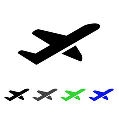 Airplane takeoff flat icon vector