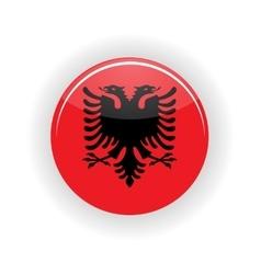 Albania icon circle vector image