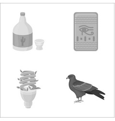 Alcohol lighting and other monochrome icon in vector