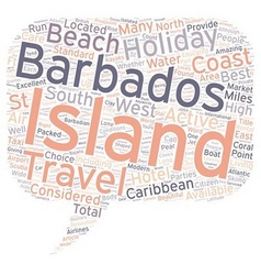 Barbados Holidays text background wordcloud vector image