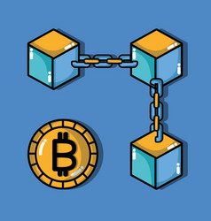 bitcoin digital money security technology vector image