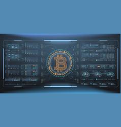 Bitcoin technology abstract visualization vector