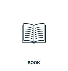 book icon line style icon design ui vector image
