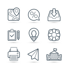 business finance pack icons eps 10 vector image
