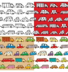 cars seamless vector image