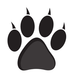 Cat or dog paw print icon vector