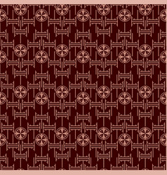 chinese geometric background seamless pattern vector image