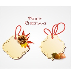 Christmas with sticker vector