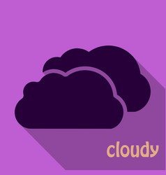 cloud icon in flat style isolated on color vector image