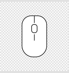 computer mouse icon vector image