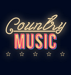 Country music vintage 3d lettering dance party vector