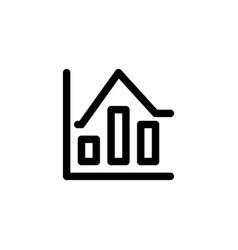 data statistic icon in line or outline style icon vector image