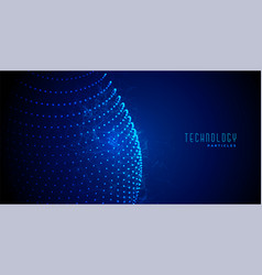 Digital technology abstract blue glowing vector