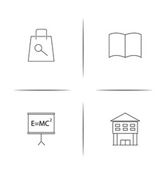 Education simple linear icon setsimple outline vector
