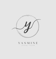 elegant initial letter type y logo vector image