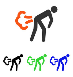 fart flat icon vector image
