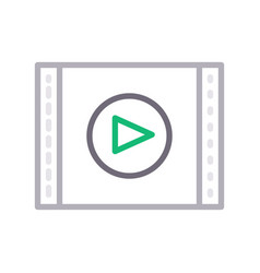 Filmstrip video vector