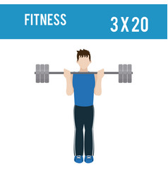 Fitness man lifestyle vector