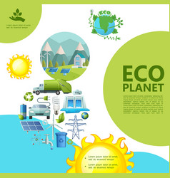 flat ecology template vector image