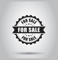 for sale grunge rubber stamp on white background vector image
