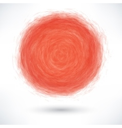 Free red brush stroke in the form of a circle vector