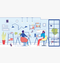 freelancers family working at computers home vector image