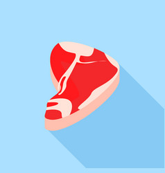 fresh steak icon flat style vector image