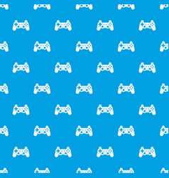 Game controller pattern seamless blue vector