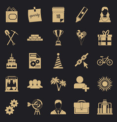 General icons set simple style vector