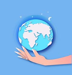 global business businesswoman boss hands carrying vector image