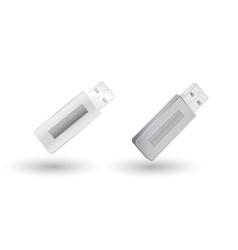 grey usb flash drives vector image