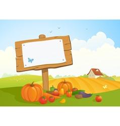Harvest signboard vector