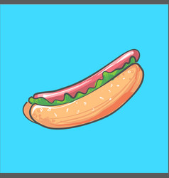hotdog isolated fast food for vector image