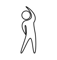 Human figure doing exercise vector