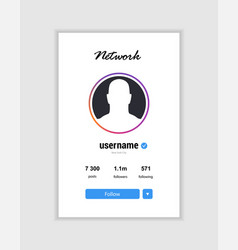 instagram templete advertising card social media vector image