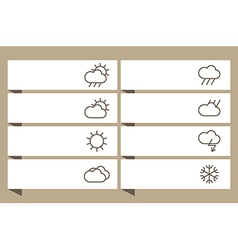 Labels set with weather signs vector