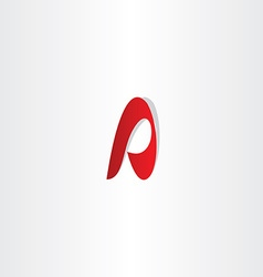 Letter a red a icon sign design vector