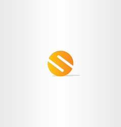 Letter s circle orange logo sign vector