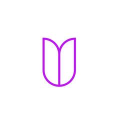 logo letter pink line v vector image