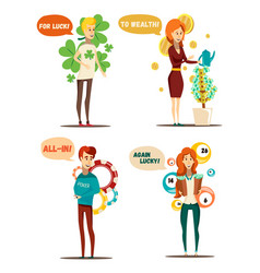 Lucky thought bubbles collection vector